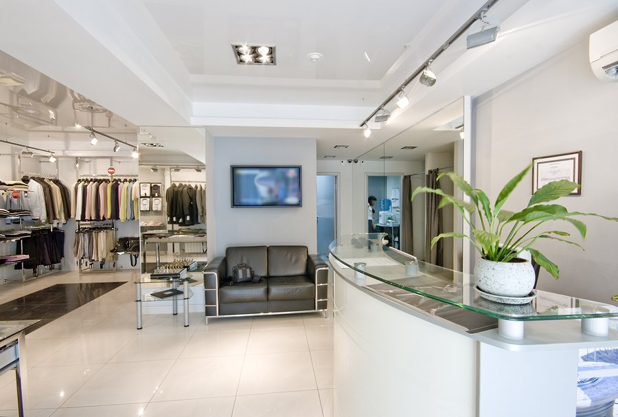 the modern shop interior ( photo )