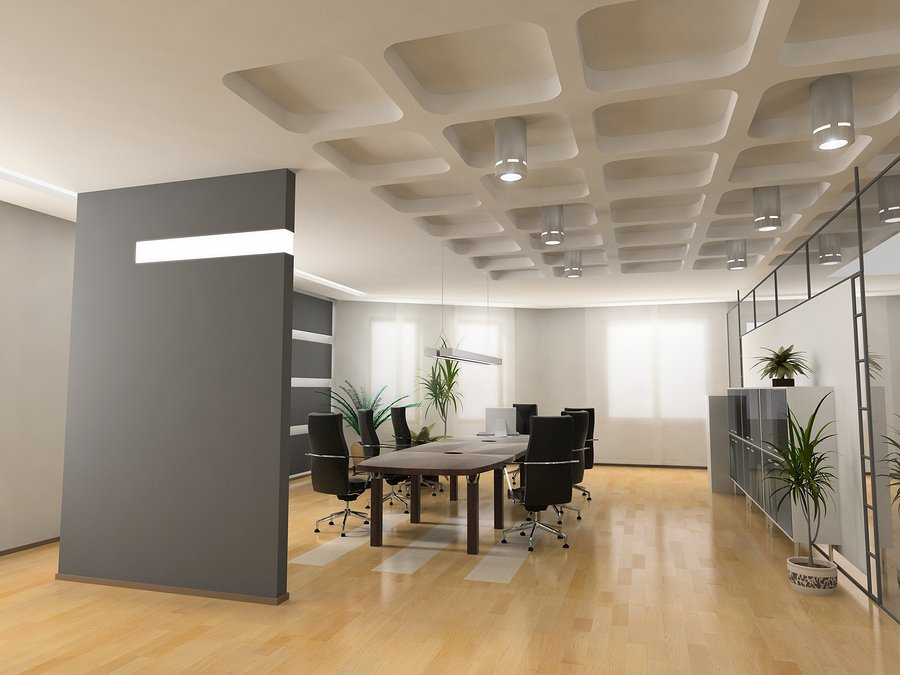 The modern office interior design.