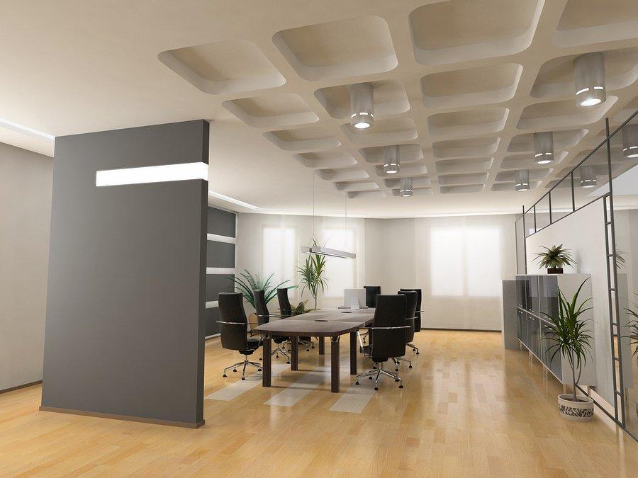 The modern office interior design.