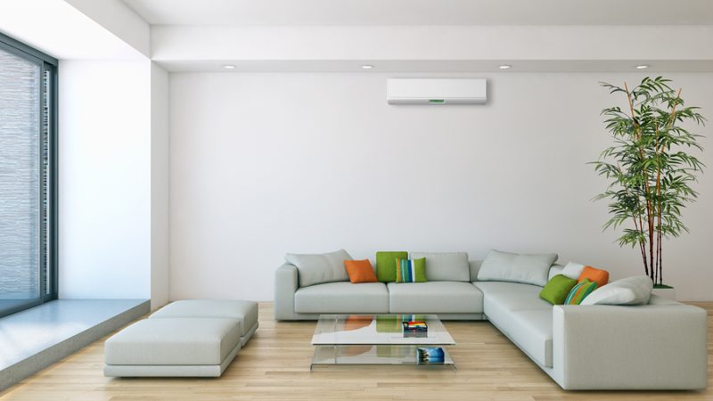 Modern interior with air conditioning.