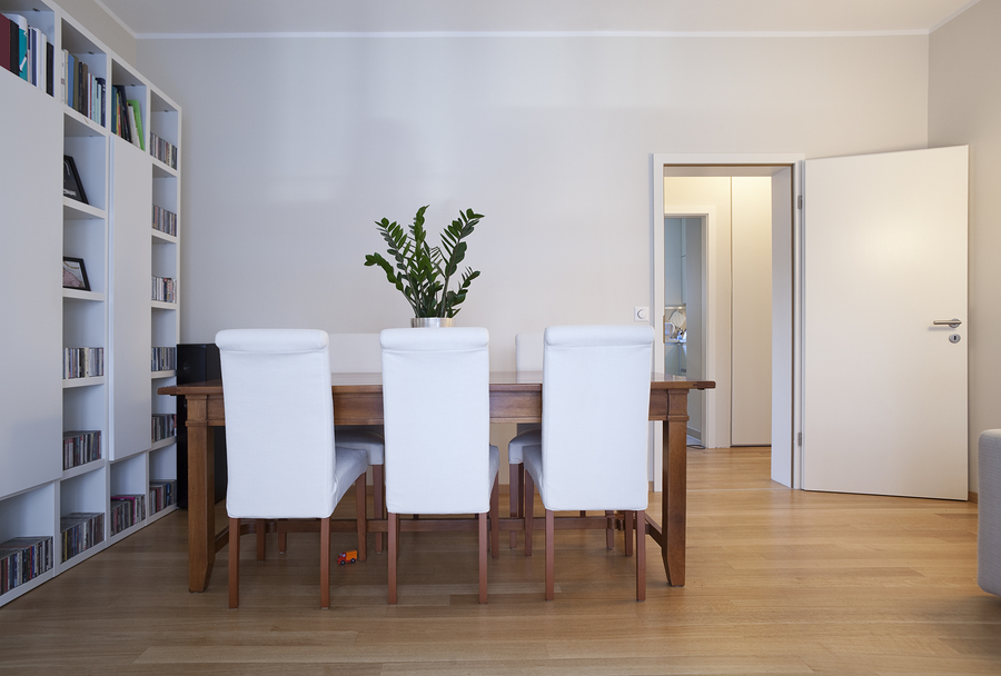 modern dining-room, interior view