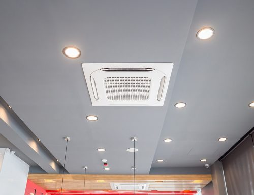What are the key parts of a ducted air conditioning system?